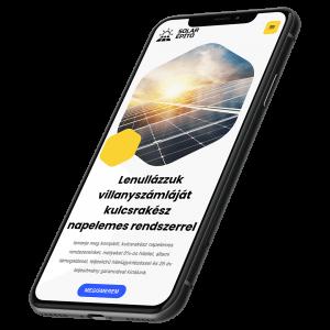 solar Építő Kft weboldala